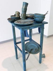Blue still life at the table